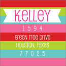 Merry and Bright Square Address Labels