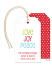 Love Joy Peace Hanging Gift Tags