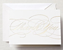 Gold Flourish Thank You Boxed Note Cards