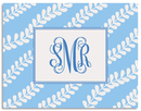 Blue Vines  Foldover Note Cards
