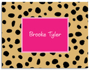 Cheetah Foldover Note Cards