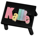 Black Kallie<br> Puzzle Step Stool