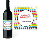 Chevron Wine labels