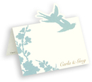 Turquoise Silhouette Die Cut Personalized Placecards