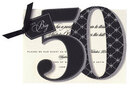 The Big 50 Die-cut Invitations