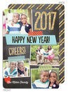 Dazzling New Year Flat Holiday Photo Cards