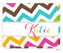 Colorful Chevron Foldover Note Cards