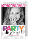 Party In Color Photo Invitations