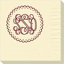 Scalloped Circle with Monogram