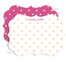 Personalized Dreamsicle Dot Stationery