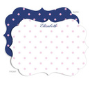 Personalized Carnation Dot Stationery