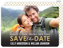 Modern Golden Save the Date Photo Announcements