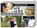 Gray Mr & Mrs Banner Announcements