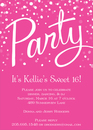 Hot Pink Party Invitations