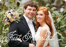 Trailing Script Photo Wedding Announcements