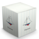 Sailboat Sticky Memo Cube