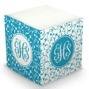 Turquoise Vines Sticky Memo Cube