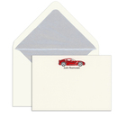 Elegant Note Cards with Engraved Sports Car