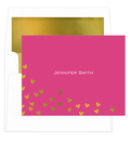 Floating Hearts Foil Stamped Foldover Note Cards with Lined Envelopes