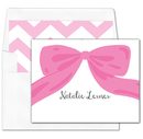 Pink Bow<br> Foldover Note Cards