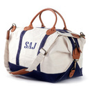 Personalized Navy Trimmed Weekender