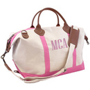 Personalized Light Pink Trimmed Weekender
