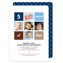 Blue Birthday Years of Fun Invitations
