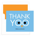 Blue Thank Yoo Foldover Note Cards