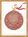 Embossed Ornament Holiday Cards