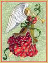 Angel with Trumpet Holiday Cards