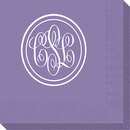 Double Circle Monogram Napkins