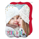 Colorful Merry and Bright Photo Cards