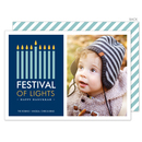 Navy Festival of Lights Hanukkah Photo Cards