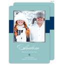 Aqua and Navy Shalom Photo Cards