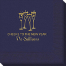 New Year's Glasses Napkins