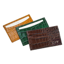 Personalized Crocodile Embossed Leather Card Case