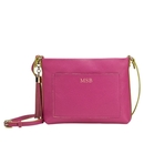 Personalized Pink Leather Crossbody Bag