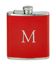 Red Leather Flask