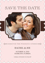 Blush Connection Photo Save the Date Cards