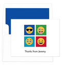 Blue Warhol Emoji Note Cards