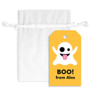 Emoji Halloween Ghost Hanging Gift Tags with Organza Bags