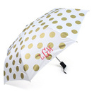 Gold Dots Travel Umbrella