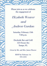 Blue Wave Border Invitations