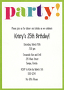 Colorful Party Invitations