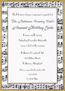 Musical Border Invitations