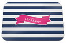 Navy Stripe Glass Cutting Board