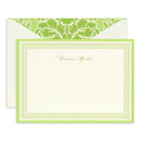 Green and Gold Correspondence Cards