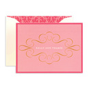 Pink and Gold Foldover Note Cards