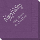 Elegant Happy Birthday Napkins