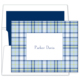 Blue Plaid Folded Note Cards Image 1 of 2
